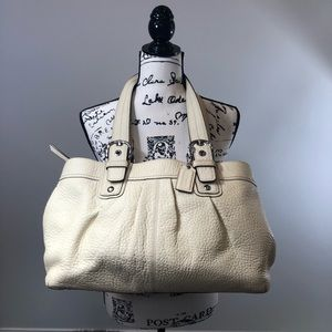Coach soft pebbled leather tote bag